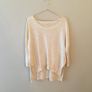 Anthropologie Moth Dolman sleeve high low sweater